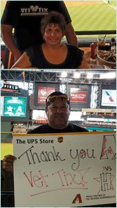 Ernesto , Sharon and family attended Arizona Diamondbacks vs. Houston Astros - MLB on Aug 14th 2017 via VetTix