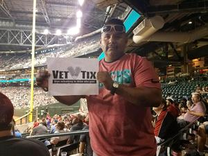 VIRGIL attended Arizona Diamondbacks vs. Houston Astros - MLB on Aug 14th 2017 via VetTix