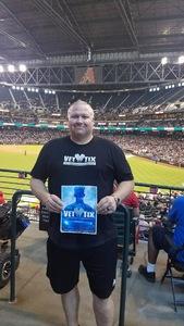 Doyle attended Arizona Diamondbacks vs. Los Angeles Dodgers - MLB on Aug 31st 2017 via VetTix