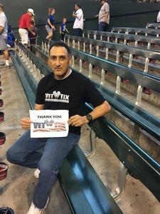 Abelardo attended Arizona Diamondbacks vs. Los Angeles Dodgers - MLB on Aug 31st 2017 via VetTix