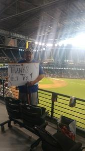 Ralph attended Arizona Diamondbacks vs. Los Angeles Dodgers - MLB on Aug 31st 2017 via VetTix