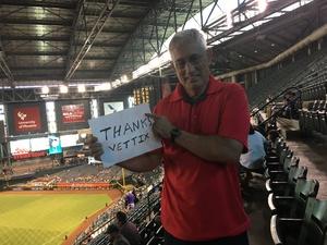 Edwin attended Arizona Diamondbacks vs. Los Angeles Dodgers - MLB on Aug 31st 2017 via VetTix
