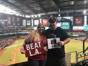 Thomas attended Arizona Diamondbacks vs. Los Angeles Dodgers - MLB on Aug 31st 2017 via VetTix
