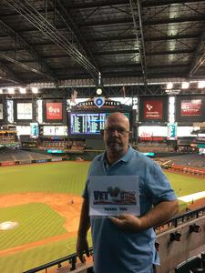 Fernando attended Arizona Diamondbacks vs. Los Angeles Dodgers - MLB on Aug 31st 2017 via VetTix