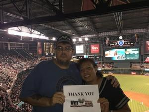 Gilbert attended Arizona Diamondbacks vs. Colorado Rockies - MLB on Sep 12th 2017 via VetTix