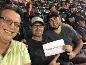 Oscar attended Arizona Diamondbacks vs. Colorado Rockies - MLB on Sep 12th 2017 via VetTix