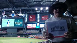 William attended Arizona Diamondbacks vs. Colorado Rockies - MLB on Sep 14th 2017 via VetTix