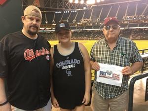 Brian attended Arizona Diamondbacks vs. Colorado Rockies - MLB on Sep 14th 2017 via VetTix