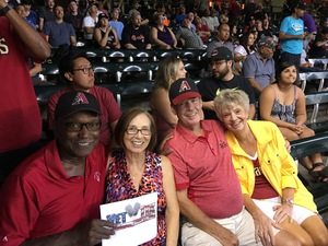 James attended Arizona Diamondbacks vs. Colorado Rockies - MLB on Sep 14th 2017 via VetTix