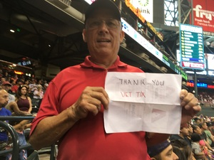 Orlando attended Arizona Diamondbacks vs. Colorado Rockies - MLB on Sep 14th 2017 via VetTix