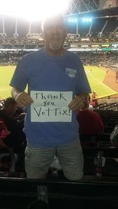 Patrick attended Arizona Diamondbacks vs. Colorado Rockies - MLB on Sep 14th 2017 via VetTix