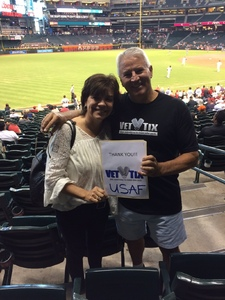 Don attended Arizona Diamondbacks vs. San Francisco Giants - MLB on Sep 27th 2017 via VetTix