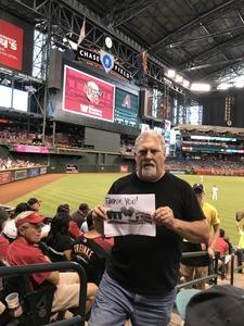 James attended Arizona Diamondbacks vs. San Francisco Giants - MLB on Sep 27th 2017 via VetTix