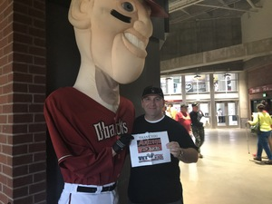 Thomas attended Arizona Diamondbacks vs. San Francisco Giants - MLB on Sep 27th 2017 via VetTix