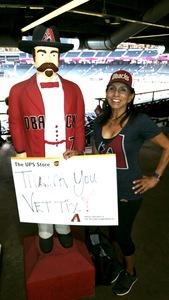 Alicia attended Arizona Diamondbacks vs. San Francisco Giants - MLB on Sep 27th 2017 via VetTix