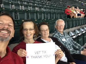 Valorie attended Arizona Diamondbacks vs. San Francisco Giants - MLB on Sep 27th 2017 via VetTix
