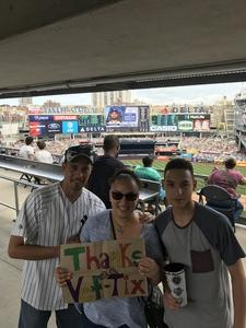jasmin attended New York Yankees vs. Toronto Blue Jays - MLB on Jul 4th 2017 via VetTix