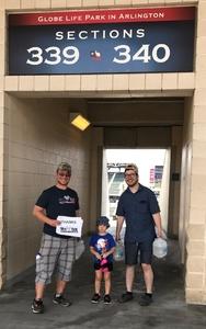 STEPHEN attended Texas Rangers vs. Baltimore Orioles - MLB on Jul 30th 2017 via VetTix