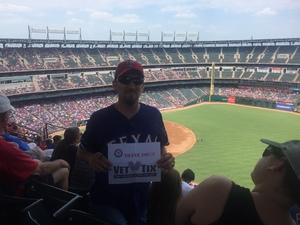 Benjamin attended Texas Rangers vs. Baltimore Orioles - MLB on Jul 30th 2017 via VetTix