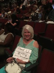 Jeanne attended Earth Wind and Fire With Special Guest Chic Feat. Nile Rodgers on Jul 26th 2017 via VetTix