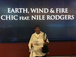 Clear Dyer attended Earth Wind and Fire With Special Guest Chic Feat. Nile Rodgers on Jul 26th 2017 via VetTix