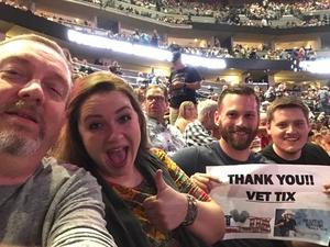Donald attended Brad Paisley With Special Guest Dustin Lynch, Chase Bryant, and Lindsay Ell on Jul 15th 2017 via VetTix