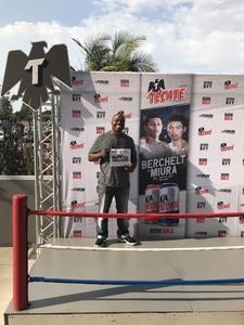 NICHOLSON attended Berchelt vs. Miura - Wbc Super Featherweight World Title - Boxing on Jul 15th 2017 via VetTix