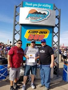 Jeff attended Can-am 500 at Pir - Monster Energy NASCAR Cup Series on Nov 12th 2017 via VetTix