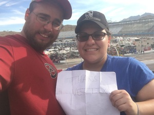 Brice attended Can-am 500 at Pir - Monster Energy NASCAR Cup Series on Nov 12th 2017 via VetTix