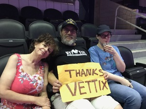 Dean attended Queen + Adam Lambert on Jul 20th 2017 via VetTix