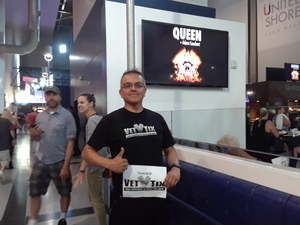 Joe attended Queen + Adam Lambert on Jul 20th 2017 via VetTix