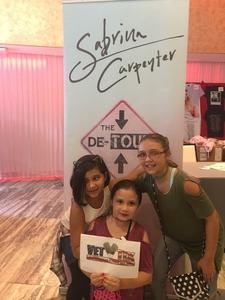 Charity attended Sabrina Carpenter - the De-tour on Aug 5th 2017 via VetTix