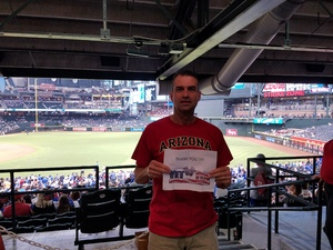 Michael attended Arizona Diamondbacks vs. Los Angeles Dodgers - MLB on Aug 10th 2017 via VetTix