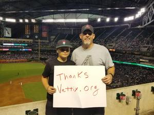 Brian attended Arizona Diamondbacks vs. Los Angeles Dodgers - MLB on Aug 10th 2017 via VetTix