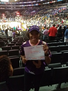 celeste attended Los Angeles Sparks vs. New York Liberty - WNBA on Aug 4th 2017 via VetTix