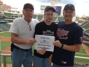 Greg attended Minnesota Twins vs. Texas Rangers - MLB on Aug 5th 2017 via VetTix
