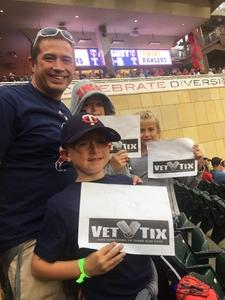 John attended Minnesota Twins vs. Texas Rangers - MLB on Aug 5th 2017 via VetTix