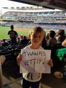Kevin attended Minnesota Twins vs. Texas Rangers - MLB on Aug 5th 2017 via VetTix