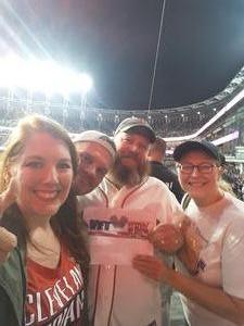 Jackie attended Cleveland Indians vs. Boston Red Sox - MLB on Aug 22nd 2017 via VetTix
