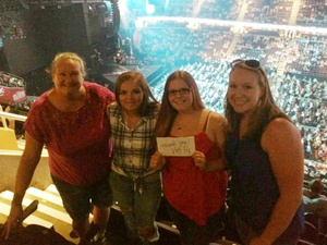 Aziza attended Soul2Soul Tour With Tim McGraw and Faith Hill on Aug 17th 2017 via VetTix