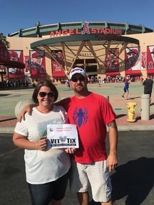 Mollie attended Los Angeles Angels vs. Philadelphia Phillies - MLB on Aug 3rd 2017 via VetTix