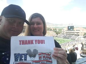 Tim attended Colorado Buffaloes vs. Texas State - NCAA Football on Sep 9th 2017 via VetTix