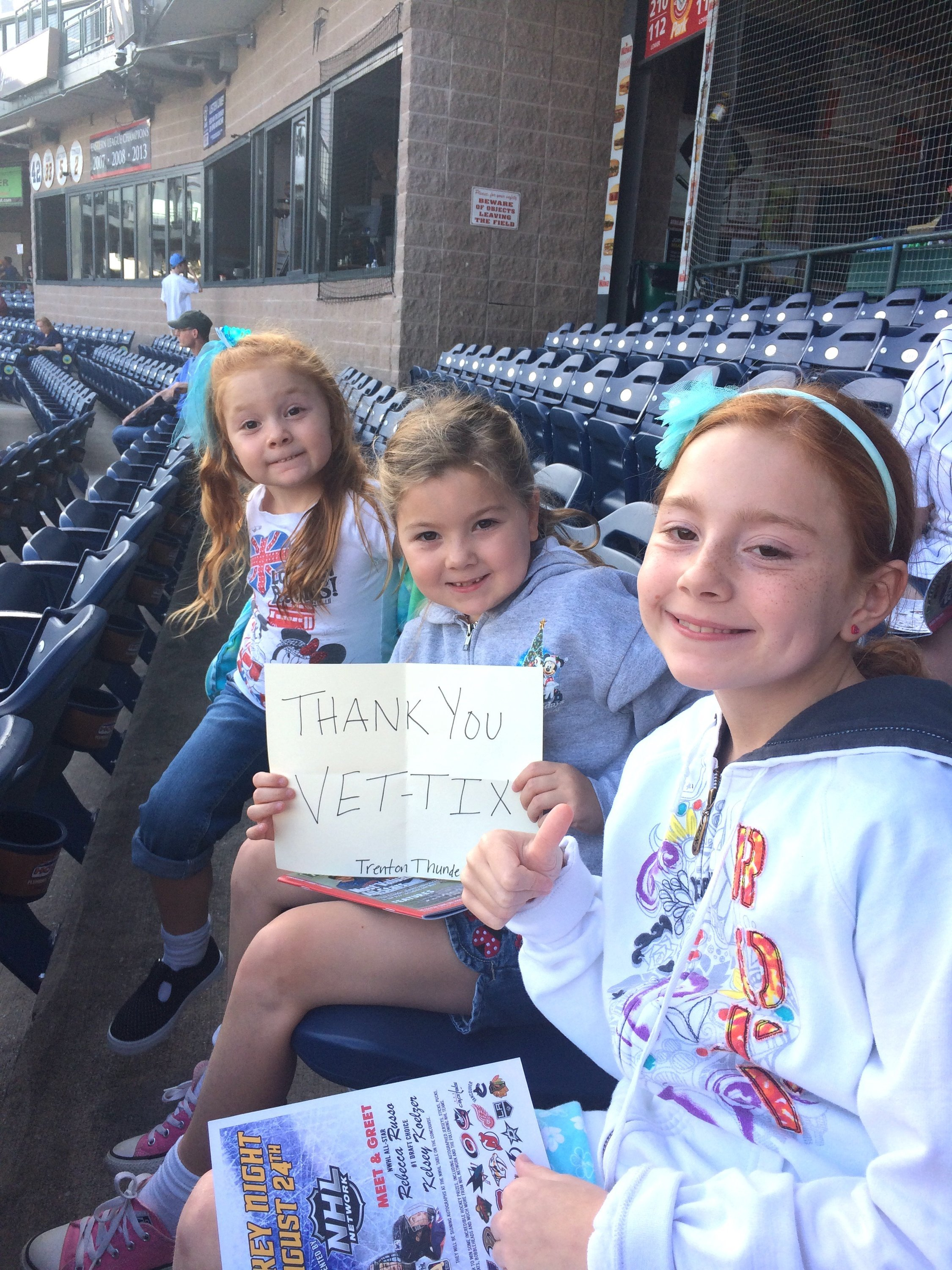 Thank you messages to veteran tickets foundation donors theodore attended trenton thunder vs richmond milb on aug 26th 2017 via vettix kristyandbryce Gallery