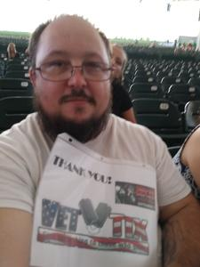 John attended Goo Goo Dolls: Long Way Home Summer Tour With Phillip Phillips - Reserved Seats on Sep 7th 2017 via VetTix