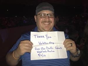 Nathan attended Goo Goo Dolls: Long Way Home Summer Tour With Phillip Phillips - Reserved Seats on Sep 7th 2017 via VetTix