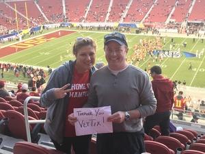 cj attended Pac-12 Football Championship - Stanford Cardinal vs. Southern California Trojans on Dec 1st 2017 via VetTix