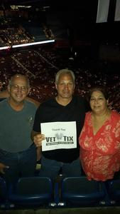 James attended John Mellencamp With Special Guest Carlene Carter on Aug 13th 2017 via VetTix