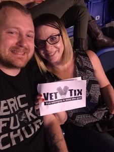 Jared attended John Mellencamp With Special Guest Carlene Carter on Aug 13th 2017 via VetTix