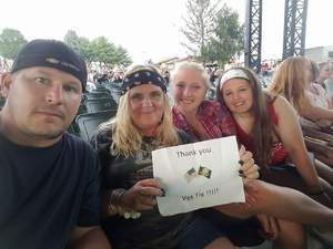 Michelle attended Brantley Gilbert: the Devil Don't Sleep Summer Tour With Special Guest Tyler Farr and Luke Combs on Aug 6th 2017 via VetTix