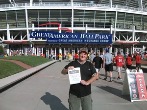 Phillip attended Cincinnati Reds vs. Pittsburgh Pirates - MLB on Aug 25th 2017 via VetTix